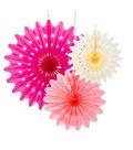 Decadent Decs Blossom Fans 3pk