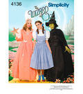 Simplicity Pattern 4136-Misses The Wizard of Oz Costumes