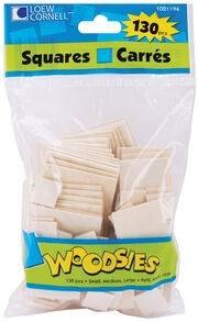 Woodsies Shapes 130/Pkg-Squares, , hi-res