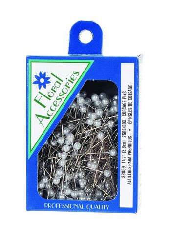 """288pk 1.5"""" Round Pearl Top Pins"""