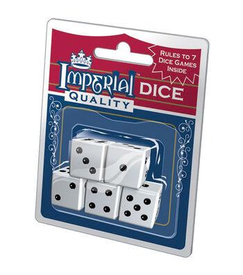 Imperial Dice 5/Pkg-White