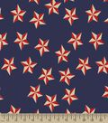 Nautical Stars Print Fabric
