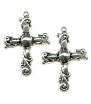 Blue Moon Beads Pendant Cross 35X45Mm Silver, , hi-res
