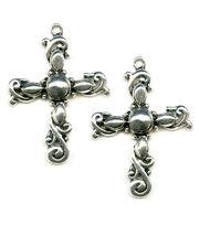 Blue Moon Beads Pendant Cross 35X45Mm Silver, , hi-res