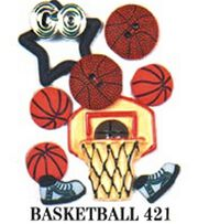 Jesse James Dress It Up Sports Embellishments-Basketball, , hi-res
