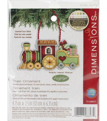 "Train Ornament Counted Cross Stitch Kit-3.7""X2.2"""