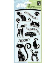 Inkadinkado Clear Stamps-Cats, , hi-res