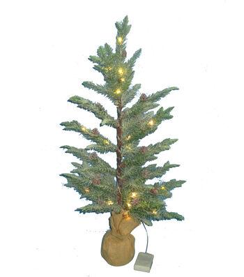 Maker's Holiday Christmas 2' Mini LED Sparkling Tree