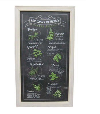 Wild Blooms Wall Decor-The Basics of Herbs