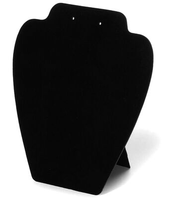Darice Folding Jewelry Stand Velvet Black