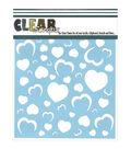 Clear Scraps Stencils Heart Wall
