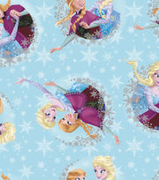 Disney® Frozen Sisters Satin Fabric 57''-Ice Skating, , hi-res