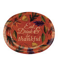 Fall Into Color 8 Pack Paper Oval Platters-Leaves