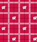 University of Wisconsin Badgers Flannel Fabric 42\u0022-Plaid