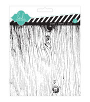 "Heidi Swapp Mixed Media Clear Stamps 5.5""X5.5""-Woodgrain, , hi-res"