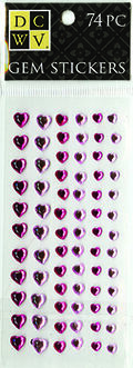 DCWV Heart Gem Stickers-Pink two-tone assortment