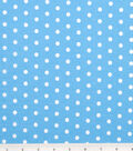 Tutti Fruitti Fabric 44\u0022-Polka Dot Turquoise and White