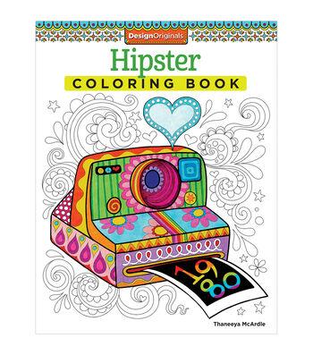 Adult Coloring Book-Design Originals Hipster