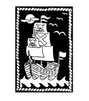Darice Color-In Velvet Poster Pirate Ship, , hi-res