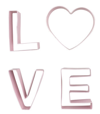 Valentine's Day 4 pk Cookie Cutters-Love