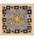 Penny Black Mounted Rubber Stamp 3.5\u0022X3.5\u0022-Christmas Star