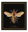 Honey Bee On Aida Counted Cross Stitch Kit-8\u0022X8.25\u0022 18 Count