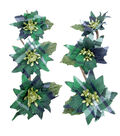 Blooming Holiday 3\u0027\u0027 Bagged Plaid Poinsettias-Green