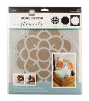 "FolkArt Home Decor Masking Stencils 3/pk 9.5""x8.5""-Flower, , hi-res"
