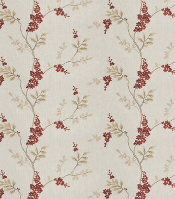 "Eaton Square Print Fabric 51""-Rosehips/Garnet"