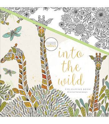 Kaisercraft KaiserColour Perfect Bound Coloring Book-Into The Wild