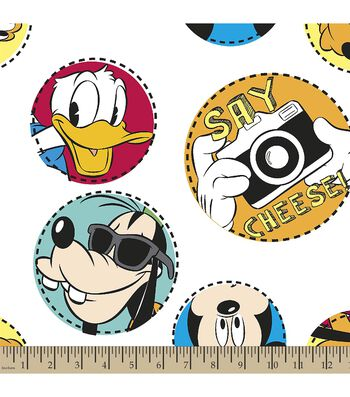Disney® Mickey Mouse Print Fabric-Say Cheese