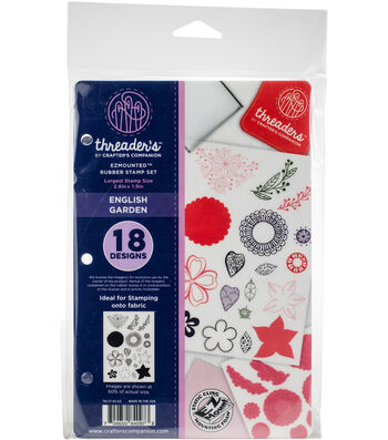 Crafter's Companion Threaders Rubber Stamp Set-English Garden