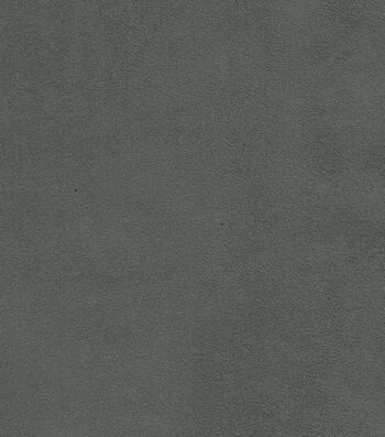 "Signature Series Solid Faux Suede Fabric 54""-Dark Gray"