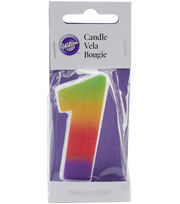 Rainbow Candle 1/Pkg, , hi-res