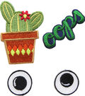 Simplicity® Embroidered Self-Adhesive Patches-Cactus-4 Pack