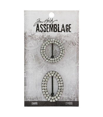 Tim Holtz® Assemblage 2 Pack Round & Oval Crystal Frame Charms