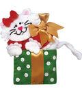 Design Works Christmas 3\u0027\u0027x4\u0027\u0027 Box Cat Ornament Felt Craft Kit