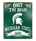 Michigan State University Spartans University Vintage Sign