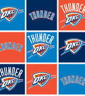 Oklahoma City Thunder Fleece Fabric 58\u0022-Block