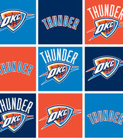 "Oklahoma City Thunder Fleece Fabric 58""-Block, , hi-res"