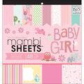 Mambi Specialty Cardstock Pad 12\u0022X12\u0022 48/Pkg-Baby Girl Animals
