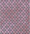 Vintage Cotton Fabric 43\u0022-Detailed Diamonds Purple