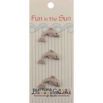 Fun In The Sun Buttons-Dolphin