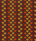 Holiday Showcase™ Harvest Cotton Fabric 43\u0022-Mini Leaves Brown