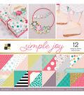 DCWV 36 Pack 12\u0027\u0027x12\u0027\u0027 Premium Stack Printed Cardstock-Simple Joy