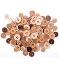 Favorite Findings Basic Buttons Assorted Sizes-Natural 130/pkg
