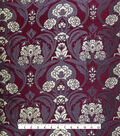Casa Embellish Brocade Fabric 44\u0027\u0027-Rich Purple Wallpaper