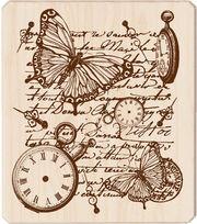 Inkadinkado® Rubber Stamp-Time Flies Collage, , hi-res