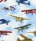 Novelty Cotton Fabric 44\u0027\u0027-Flying Airplanes