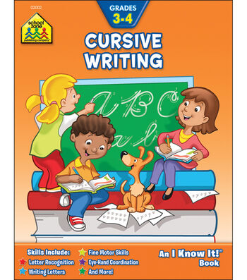 School Zone Curriculum Workbooks-Cursive Writing